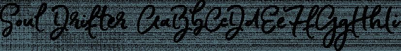 Soul Drifter font family by Ana's Fonts