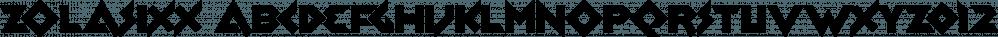 Zolasixx font family by Typodermic Fonts Inc.