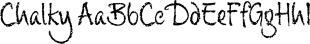 Chalky font family mini