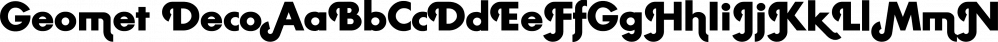 Geometa Deco font family by Wiescher-Design