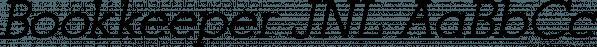 Bookkeeper JNL font family by Jeff Levine Fonts