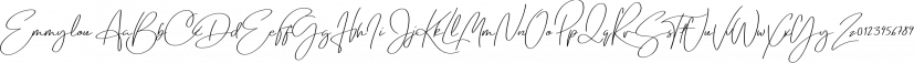 Emmylou font family by Great Scott