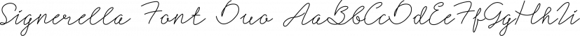 Signerella Font Duo font family by Letterhend Studio