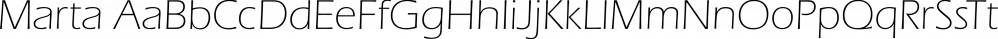 Marta font family by FontSite Inc.