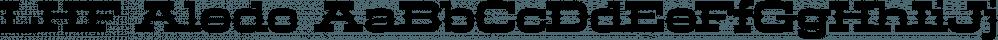 LHF Aledo font family by Letterhead Fonts