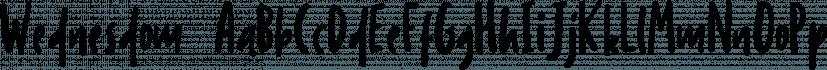 Wednesdom  font family by Letterhend Studio