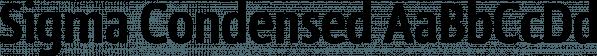 Sigma Condensed font family by Wiescher-Design