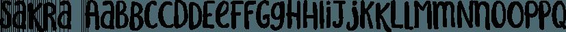 Sakra font family by Letterhend Studio