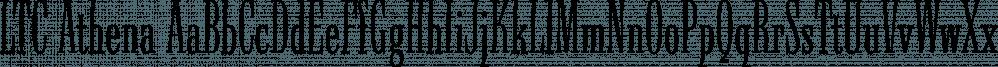 LTC Athena font family by P22 Type Foundry