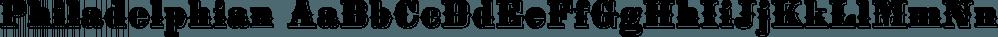 Philadelphian font family by FontMesa