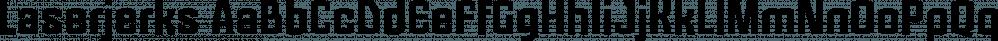Laserjerks font family by Typodermic Fonts Inc.