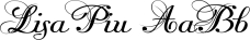 LisaPiu font family mini