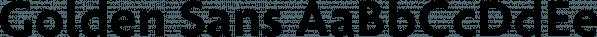 Golden Sans font family by Artill Typs