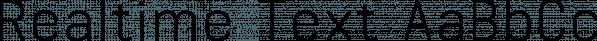 Realtime Text font family by Juri Zaech