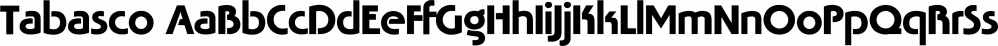 Tabasco font family by FontSite Inc.
