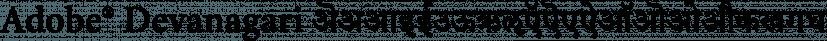 Adobe® Devanagari font family by Adobe