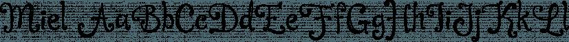 Miel font family by Corradine Fonts
