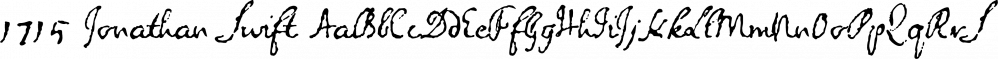 1715 Jonathan Swift font family by GLC Foundry