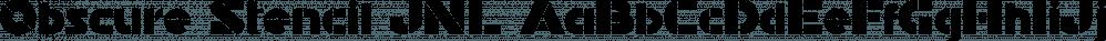Obscure Stencil JNL font family by Jeff Levine Fonts