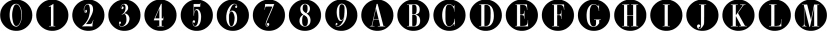 Bullet Numbers font family by Wiescher-Design