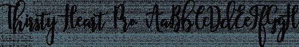 Thirsty Heart Pro font family by Anastasia Dimitriadi