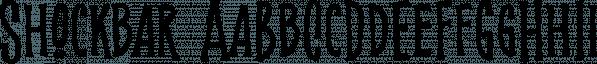 Shockbar font family by Letterhend Studio