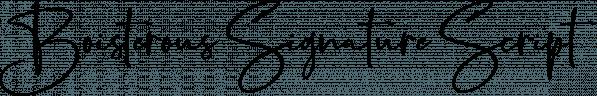 Boisterous Signature Script font family by Dhan Studio