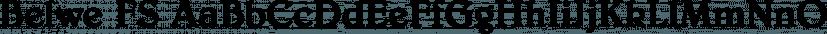 Belwe FS font family by FontSite Inc.