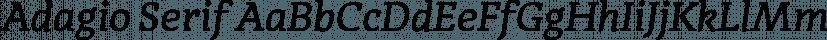 Adagio Serif font family by BORUTTA