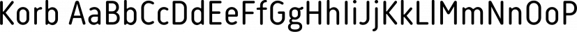 Korb font family by JCfonts