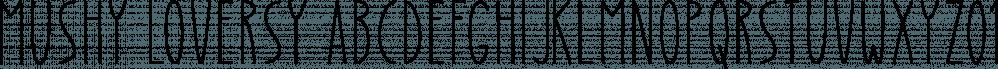 Mushy Loversy font family by Seemly Fonts