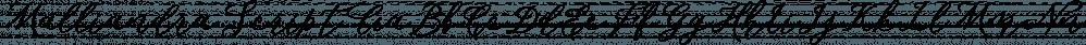 Malliandra Script font family by Letterhend Studio