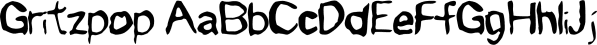 Gritzpop font family by Fonthead Design