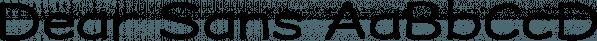 Dear Sans font family by Stiggy & Sands