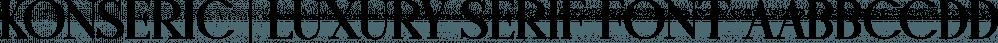 Konseric | Luxury Serif Font font family by Picatype Studio