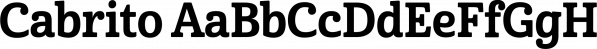 Cabrito font family by Insigne Design