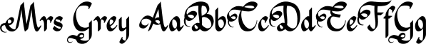 Mrs Grey font family by Hipopotam Studio