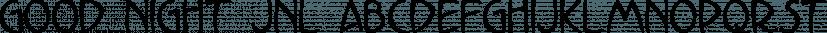 Good Night JNL font family by Jeff Levine Fonts