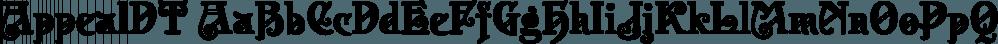 AppealDT font family by DTP Types