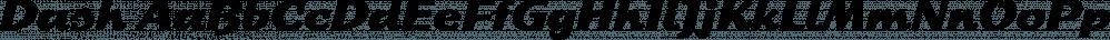 Dash font family by FontSite Inc.