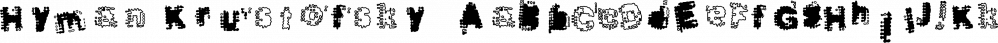 Hyman Krustofsky™ font family by MINDCANDY