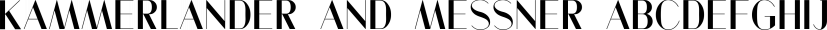 Kammerlander and Messner font family by Juraj Chrastina