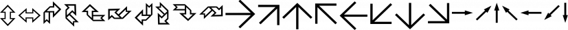 IngyArrows font family by Ingrimayne Type