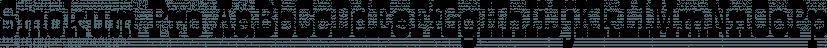 Smokum Pro font family by Stiggy & Sands