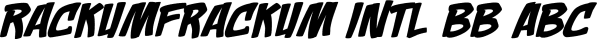 Rackum Frackum font family by Blambot
