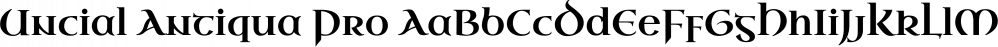 Uncial Antiqua Pro font family by Stiggy & Sands