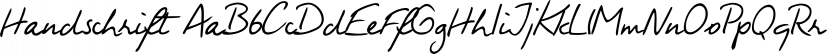 Handschrift font family by FontSite Inc.