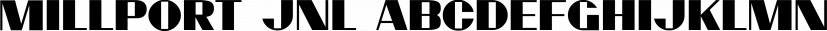 Millport JNL font family by Jeff Levine Fonts