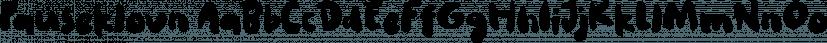 Pauseklovn font family by Bogstav