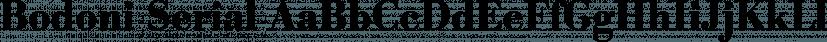 Bodoni Serial font family by SoftMaker